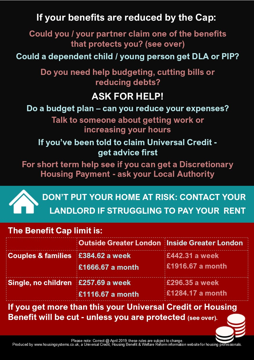 Benefit Cap leaflet back